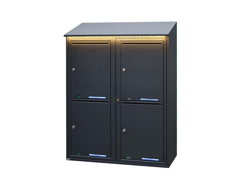 Paketbox 4 fack - RAL 7015