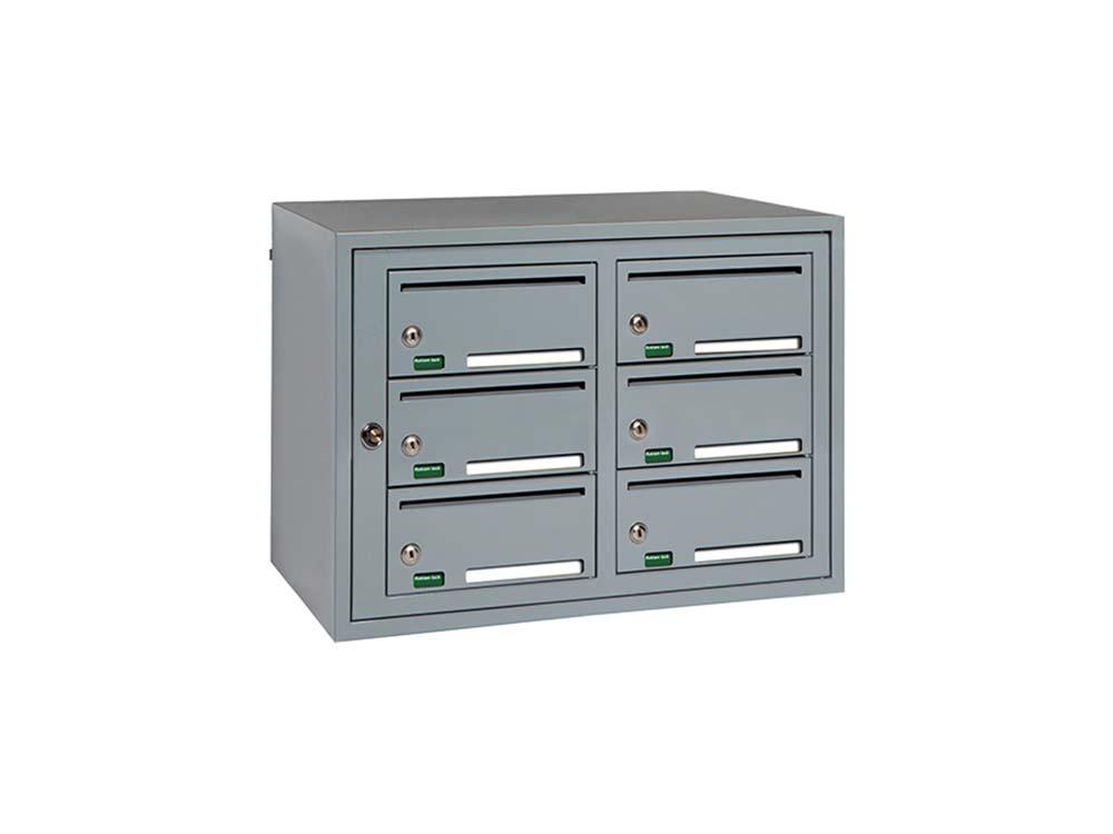 Svenskboxen Kompakt 2x3 - RAL 7001