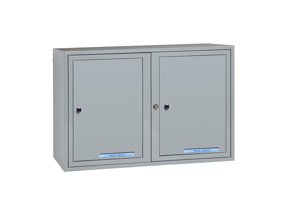 Paketbox 4 fack - RAL 7001